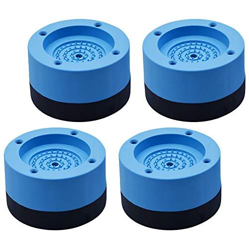 Kitchen-dream Waschmaschine Antivibrationsmatte, 4pcs Anti-Vibrations Gummimatten Fußpolster Rutschfeste Schwingungsdämpfer für Waschmaschinen Trockner Möbel Kühlschrank -4cm,Blau