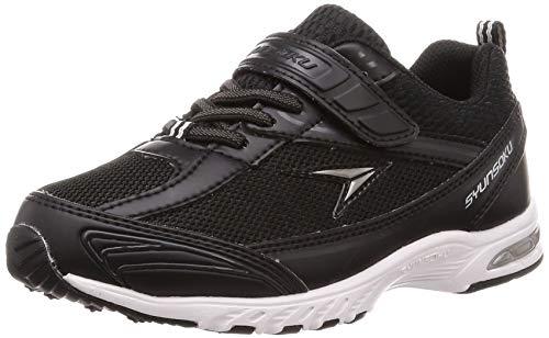 [シュンソク] スニーカー 運動靴 防水 軽量 17~26cm 2E キッズ 男の子 女の子 SJJ 4910 ブラック 20 cm