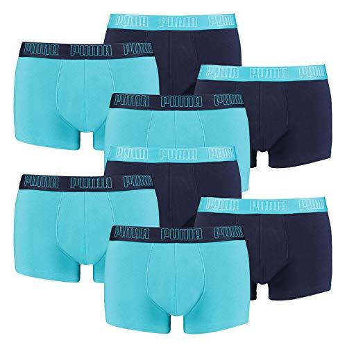 PUMA 8 er Pack Short Boxer Boxershorts Men Pant Unterwäsche kurz 100000884, Farbe:005 - Aqua/Blue, Bekleidungsgröße:L