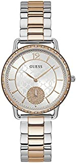 ساعة رسمية للنساء من جيس انالوج بهيكل ستانلس ستيل ومينا بلون ابيض- W1290L2