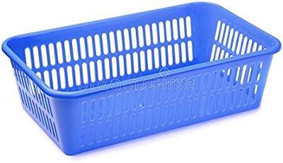 sreehari Plastic Drying Rack Washing Holder Basket Organizer Tray(Blue and Green)