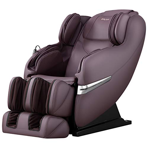 iRest Massage Chair with S Track, Full Body Massage Recliner with Zero Gravity, Air Compression Massage, Foot Massage, Auto Body Scan, Space Saving (Brown)