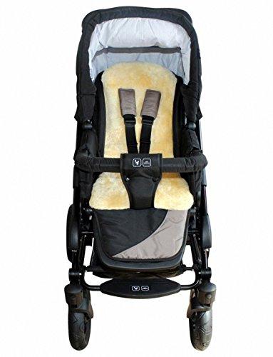 HEITMANN Baby Lammfellauflage 30 mm geschoren, für Tragschale, Buggy, Kinder Autositz, ca. 77x35 cm, waschbar