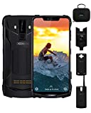 DOOGEE S90C Super Rugged Cell Phones Unlocked Android 9.0, 4G Dual SIM Unlocked Smartphones, 5050mAh+5000mAh(Power Mod), Helio P70 IP68/IP69K Waterproof 4GB+64GB 6.18 inch, 16MP+8MP+8MP, NFC, Black