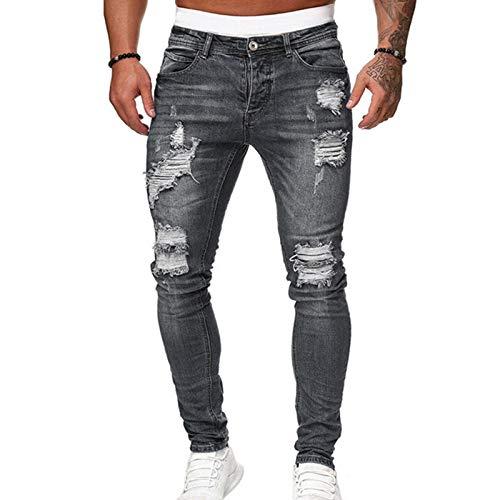 Dheera Calça jeans skinny masculina, calça casual para festa de motocicleta, calça de caubói confortável para meninos e homens, trabalho, encontros