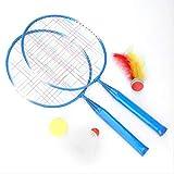 Raquettes de Badminton avec Balles Set de Badminton Ensemble d'Entraînement de Badminton pour Les Enfants Jeu de Sports de Plein Air en Plein Air Entraînement au Badminton