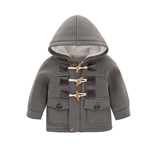 LadayPoa Fashion Winter Children Kids Baby Boys Infant Outerwear Coat Baby Kids Boys Jacket Coat 2-6Years Grey 5t