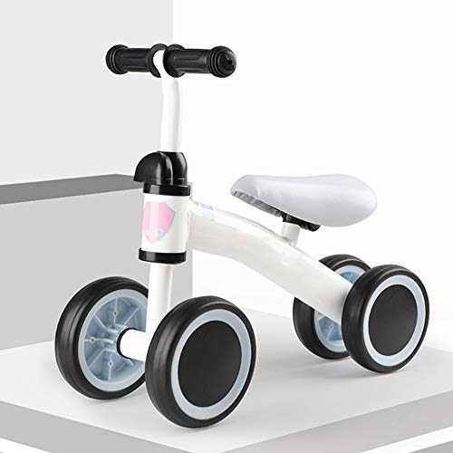XinC Baby Stroller Bike Bicycle,Best Gifts for Children Over 1 Year Old,Children Walker Toys Without Pedals, Carbon Steel Frame, Adjustable Handlebar, Safe to Carry,White