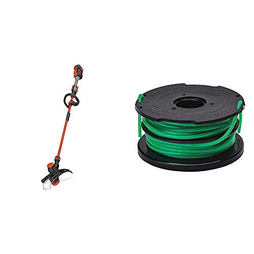 BLACK+DECKER 60V MAX String Trimmer Kit with Trimmer Line Replacement Spool, EASYFEED, Dual-Line.08-Inch (LST560C & EFD-080)