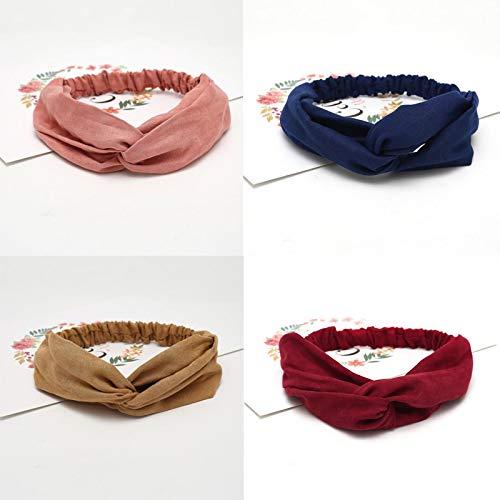 Femmes Bandeau Solide Turban Élastique Chapeaux Head Wrap Femmes Accessoires de Cheveux pour Les Femmes Bandes de Cheveux rayés