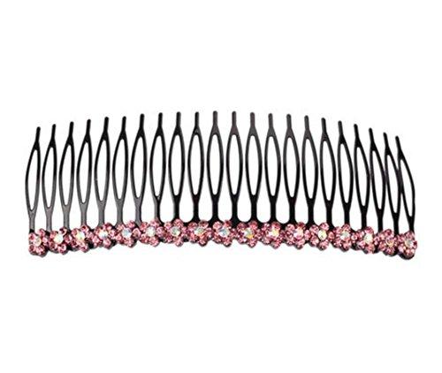 Fournitures pour cheveux 11 cm Combs latéraux Poils/épingle à cheveux en métal, rose