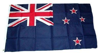 Flaggenking Nieuw-Zeeland vlaggen/vlag - weerbestendig, wit, 150 x 90 x 1 cm, 16902