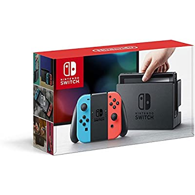 Nintendo Switch – Neon Red and Neon Blue Joy-Con - HAC 001 (Discontinued by Manufacturer) from Nintendo