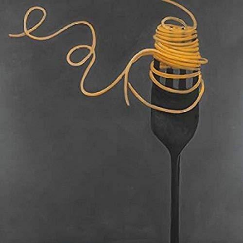 Spaghetti Pasta around the Fork Poster Print by Atelier B Art Studio (12 x 12)