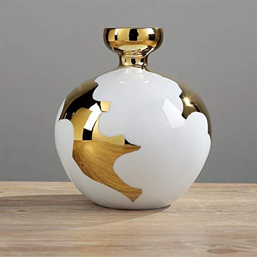 YSJSPKK Maceteros Decoración del hogar Jarrón de cerámica Flor Seca Arreglo de Flores TV Gabinete Sala de Estar Decoración del gabinete de Vino (Color : Medium Vase 22cm)