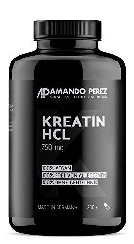 Buffered Creatine HCL - 750 mg - gepuffertes Kreatin HCL - 240 Kapseln - hochdosiert - reines Hydrochlorid-Creatine