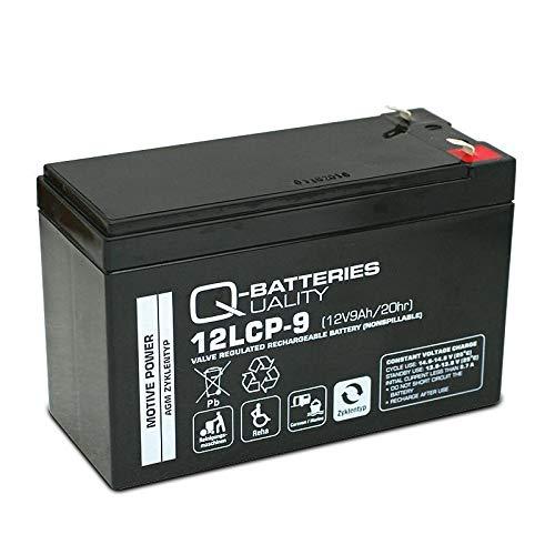 AKKU BATTERIE Q-Batteries 12LCP-9 12V 9Ah ELEKTROFAHRRAD GOLFCADDY SCOOTER ELEKTROMOBIL ZYKLENTYP