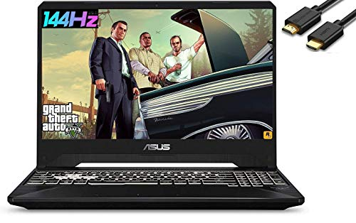 ASUS TUF A15 15.6' IPS 144Hz FPS FHD Gaming Laptop (AMD 4-Core Ryzen 7-3750H(Beat i7-7700H), RTX 2060, 16GB DDR4 RAM, 512B PCIe NVMe SSD) RGB Backlit Keyboard, Windows 10 Home, IST HDMI Cable