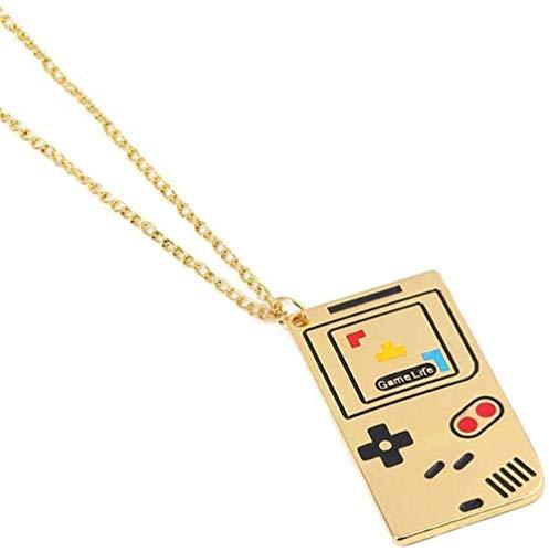 NC110 Hombres Mujeres Diseño clásico Retro Fácil de Combinar Personalidad Simple Diversión Infantil Consola de Juegos Creativa Collar Colgante