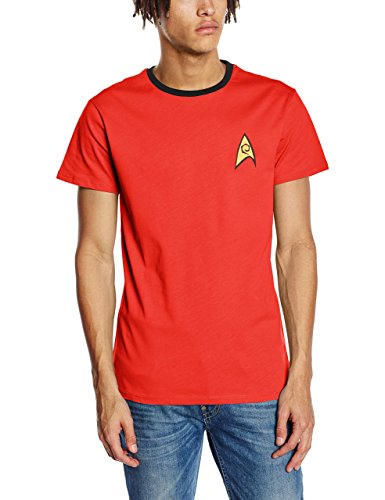 Star Trek - Command Uniform - T-shirt - taille normale - Manches courtes - Homme - Rouge (Red) - X-Large