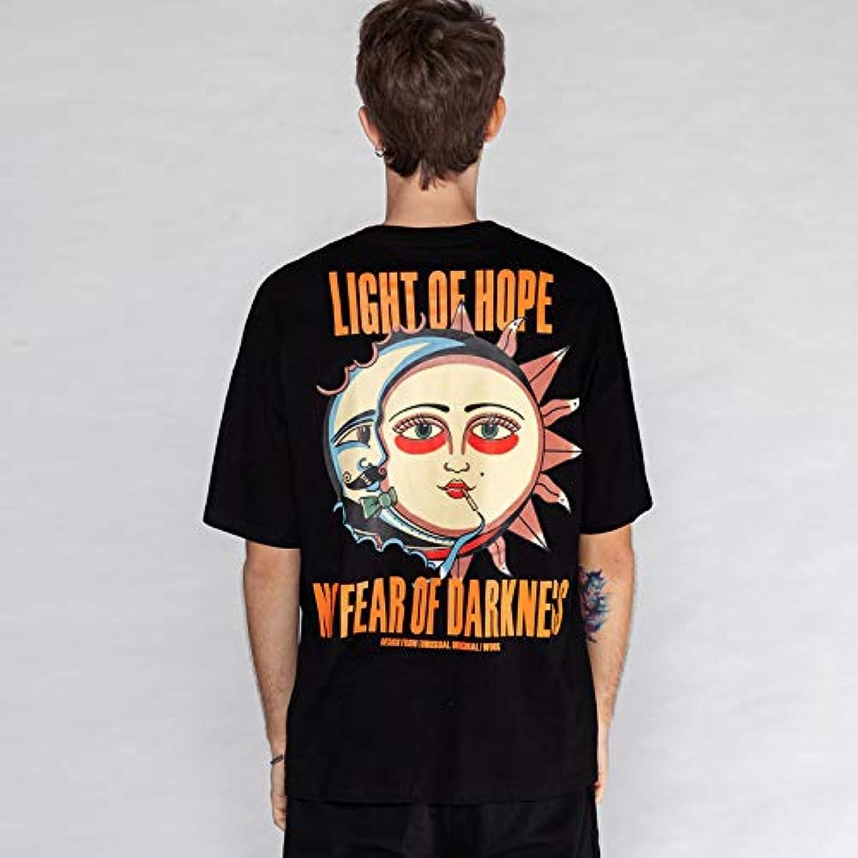 DXYXHLK Keine Angst vor der Dunkelheit Gedruckt Kurzarm T-Shirts Mnner Frauen Sommer Casual Top Tees Mnnliche T-Shirts