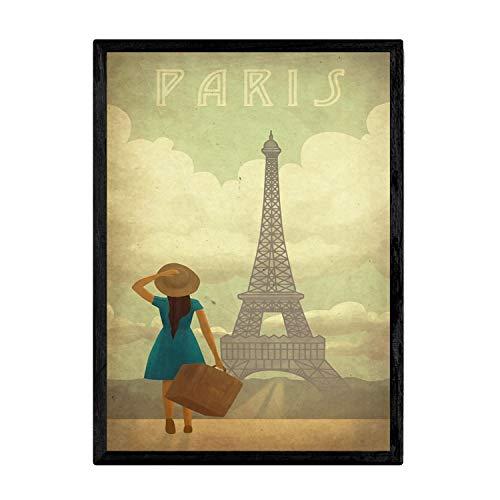 Nacnic Poster Vintage de Paris Vintage. Láminas para Decorar Interiores con imágenes Vintage y de Publicidad Antigua. Cuadros decoración Retro. Tamaño A3