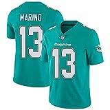 JesUsAvila Mar-in.o #13 NFL Camiseta de Rugby Sudadera Bordado Deportiva de Manga Corta Unisex Jersey de Fútbol Americano Transpiración/Green / 3XL