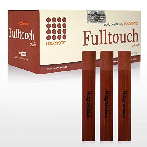 HAGOROMO Fulltouch Color Chalk 1 Box [72 Pcs/Brown]