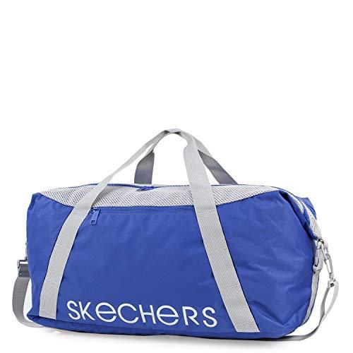SKECHERS - Sporttas. Sporttas met verstelbare schouderband. Canvas tas. S919, Color Keizerlijk Blauw