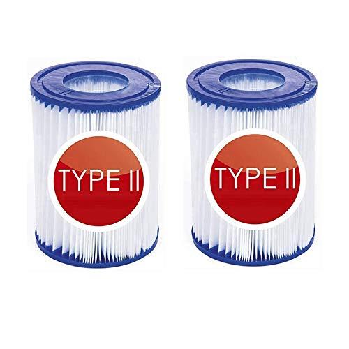 Cartucho de filtro de repuesto para Bestway tipo II para filtro de piscina reutilizable Bestway 58094, filtro de piscina hinchable para piscina familiar, accesorios de filtro de limpieza (2 un