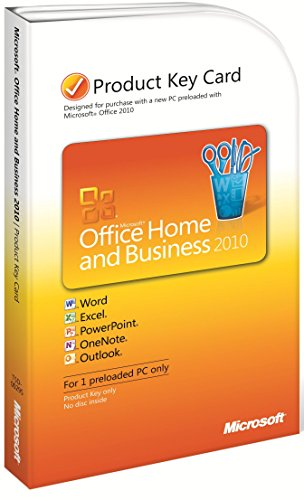 MS Office 2010 Home and Business PC Attach Key PKC (PT)