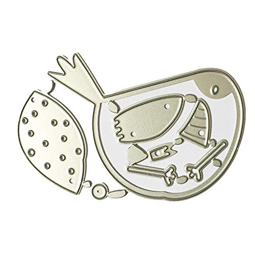 FNKDOR Stanzschablone Scrapbooking Prägeschablonen Schablonen Stanzen Schablonen Stanzmaschine Stanzformen, Zubehör für Sizzix Big Shot und andere Prägemaschine (E)