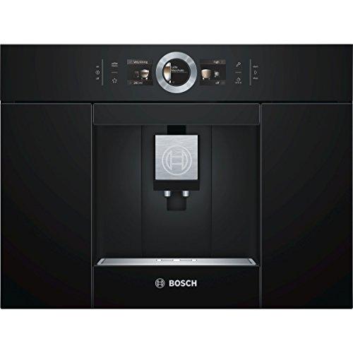 Bosch CTL636EB6 Einbau-Kaffee-Vollautomat / 2,4 Liter / 59,4 cm / Schwarz / Automilk Clean - vollautomatische Dampf-Reinigung nach jedem Getränk / One-Touch Zubereitung / CeramDrive / HomeConnect