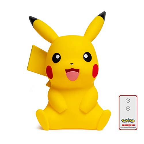 Teknofun 811356 Pokemon Pokémon Pikachu LED Lampe 40cm mit Fersteuerung, Yellow