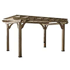 Sturdy, contemporary cedar construction Concrete Anchors that prevent movement Durable Resin Foot to prevent decay from ground moisture Overall dimensions (LxWxH) 14ft x 10ft x 7ft 11in 3D interactive assembly instructions for this product are availa...