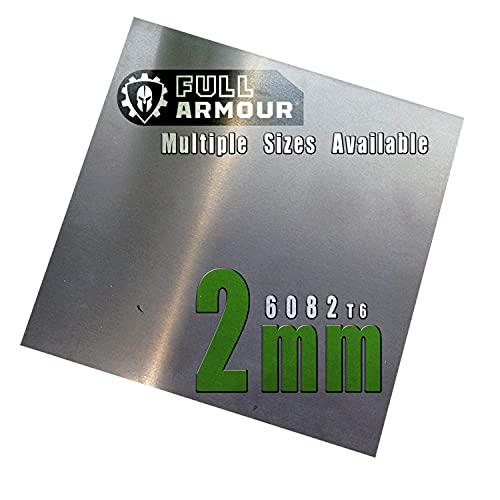 Plaque en aluminium de 2 mm – Grade 6082 T6 300 mm x 300 mm (30cm x 30cm)