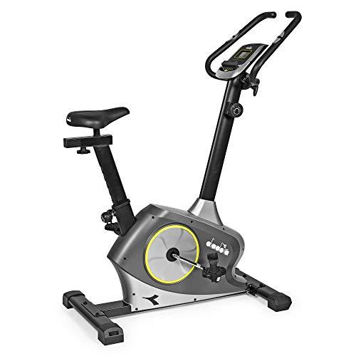 Diadora Fitness Vega - Bicicleta estática Unisex para Adulto, Color Plateado