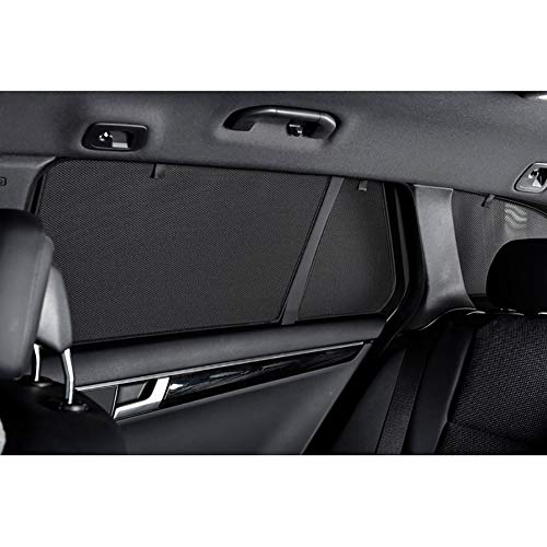 Car Shades AU-A6-E-C Satz passend für Audi A6 4G Avant 2011-(6-teilig), Schwarz