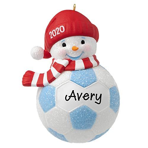 Hallmark Keepsake Christmas Ornament 2020 Year-Dated, Soccer Snowman, DIY Personalized