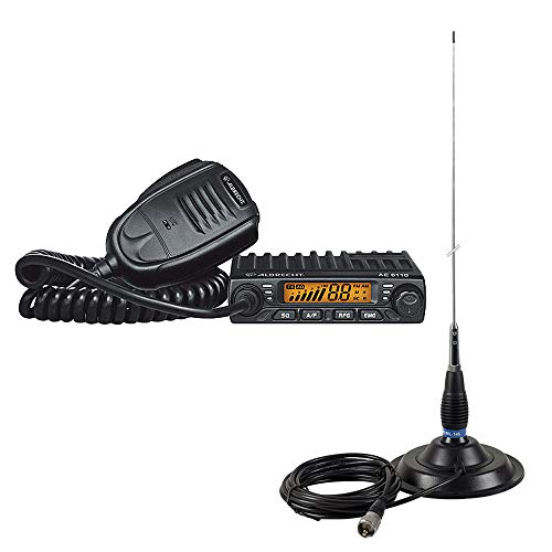 Radio CB KIT Albrecht AE 6110 ASQ + CB-Antenne PNI ML145 mit Magnethalterung 145/PL 145mm