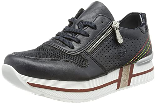 Rieker Damen N3605 Sneaker, Blau, 39 EU