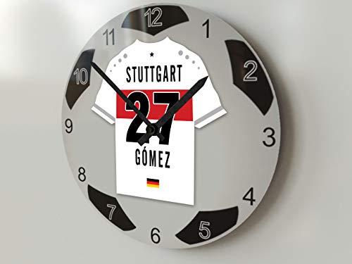 FanPlastic UEFA Champions League, Fußball-Uhr, groß, Design für alle Teams, Fußball-Uhrwerk ! - VfB Stuttgart