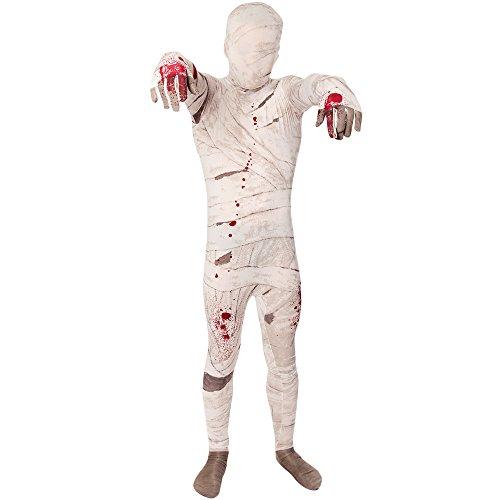Morphsuits Disfraz Momia Prima Nios Halloween y Carnaval - Pequeo