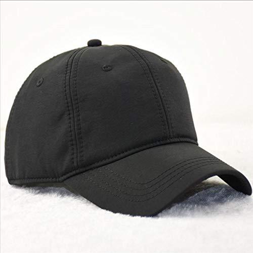 Gorra de béisbol, Tejido de Secado rápido, Gorra, Tablero de Luces, Gorra, Ajuste Negro, 60-63cm