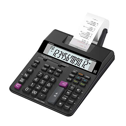 Casio HR-200RCE-W-EC Printing Desktop Calculator, Black