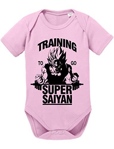 Tee Kiki Goku SS Dragon Body Ball bébé Coton Bio Son Proverbes Barboteuses Garçons et Filles 0-12, Größe2:74/7-9 Mois, Baby:Rose