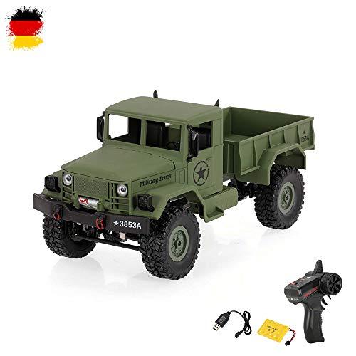 HSP Himoto U.S. M35 1/16 Maßstab RC Ferngesteuerter Off-Road Militärtruck Army Fahrzeug Transporter Crawler, 2,4GHz,4WD Antrieb, Komplett-Set RTF