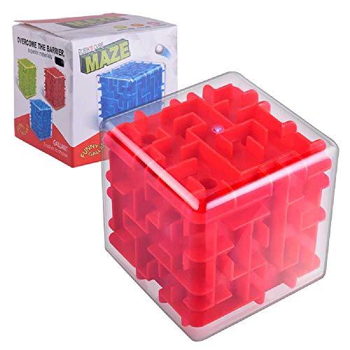 J&X Rompecabezas para Niños 3D Laberinto Tridimensional Bola De Juguete Equilibrio Juego De Pelota Laberinto Hucha Cubo De Rubik Laberinto Laberinto Tridimensional 3D