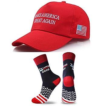Donald Trump Make America Great Again Hat MAGA USA Cap with 2020 Socks