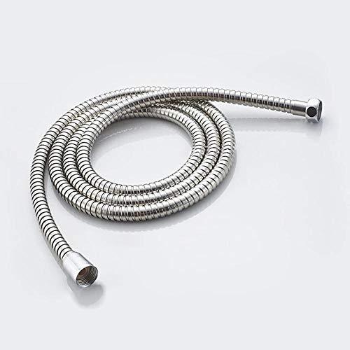 MMDSNX Acero Inoxidable 1,2 m 1,5 m 2 m Manguera de Ducha Tubo de Ducha Suave Tubo de Agua Flexible para baño Mangueras de plomería comunes de Plata-1,2 m